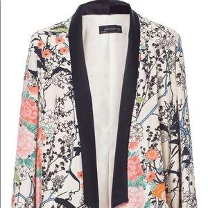 Zara Floral Kimono Blazer